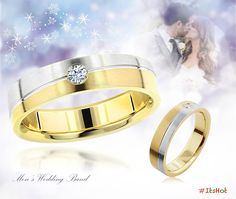 This Inverse Mens Diamond Wedding Band in 14K Gold features a beautiful combination of white and yellow gold and is stunning in its simplicity. Featuring a stylish satin gold finish and a gorgeous 0.06 carat diamond, this comfort fit wedding band can be customized in one color (white, yellow or rose) or different color variations.