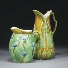 Two Minton Secessionist Jugs