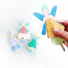 Egg Carton Fairy Dol