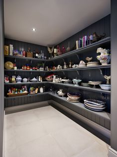 A large pantry has become a popular and practical home design idea Latest House Designs, Cool House Designs, Modern House Design, Modern House Plans, House Floor Plans, Home Design Plans, Home Interior Design, Kitchen Interior, Porches