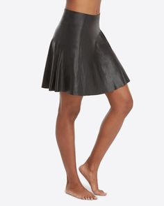 Faux Leather Skater Skirt | SPANX