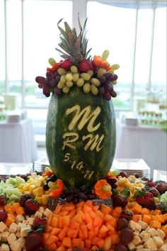 Ashley's Creative Catering Personalized Fruit Carving