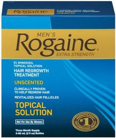 Rogaine for Men Hair Regrowth Treatment 5 Minoxidil Topical Solution EasytoUse Extra Strength Solution 3 bottles 2oz each ** You can find out more details at the link of the image.