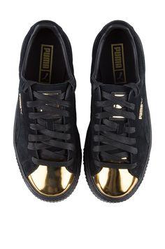 Full View Puma Gold Cap Toe Creepers in Black