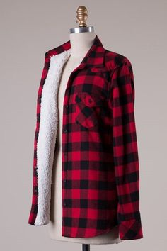 Candy Fur Lined Plaid Jacket (I love everything about this!)