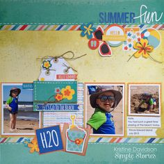 Summer Fun *Simple Stories* - Scrapbook.com - Made with Simple Stories products.