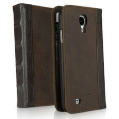 BoxWave Classic Book Samsung Galaxy S5 Case - Vintage Book Cover Case, Genuine Leather Wallet Case Design with Card Slots. For more Galaxy S5 Wallet Cases, please visit http://www.galaxy-s5-cases.com/samsung-galaxy-s5-wallet-case