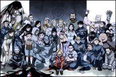 Fullmetal Alchemist Brotherhood cast photo.  :D