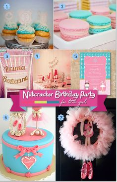Ballerina Nutcracker birthday party ideas for a festive Christmastime celebration. Includes finds for invitations, sweets and cakes, decorations, and more!  #nutcrackerbirthday #nutcrackerpartytheme