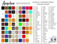 Angelus Acrylic Leather Paint Purse Vinyl Sneaker 56 Colors New