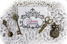 Back In Stock~Reneabouquets Trinket Packs and Trims that include embroidered lace, appliques, crochet lace, Guipere lace, brooches, rhinestone buttons and more!