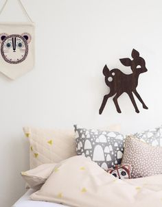 Cute wooden woodland-inspired wall decorations | ferm LIVING - KIDS Lamps