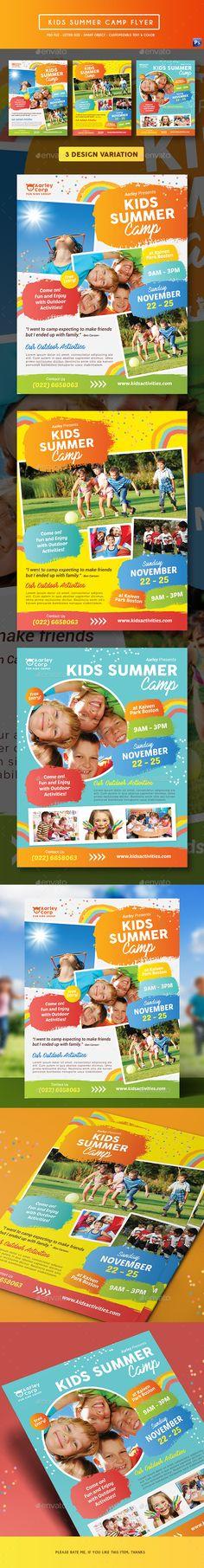 Kids Summer Camp Flyer — Photoshop PSD #flyer #community
