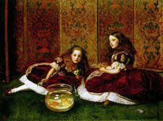 художник John Everett Millais ( 1829-1896. Англия).1864- Часы досуга (Leisure Hours)