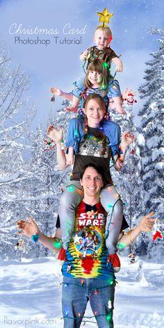 Christmas Card Photoshop Tutorial // thepapermama.com