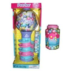 Pearlee Gumball Machine Bank (18 inches tall) plus BONUS: 100 Delicious Pearlized Gumballs