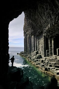 Fingal's Cave Staffa Scotland - remember approaching from the sea on my first ever sailing trip aged 16 - i was the galley boy that day - broke off from making scones to pop up on deck to see the cave