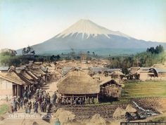 japan vintage photos | OLD PHOTOS of JAPAN: From Izumi, Shizuoka Mount Fuji 1890s