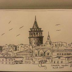 Galata Tower / Istanbul / Turkey A trial for urban sketching... #galata #tower #usk #urbansketch #urbansketchers #pencildrawing #charcoal #charcoaldrawing #sketch #sketchbook #artwork #art #nofilter #draw #drawing  #follow #like #sketch_daily #arts_help #derwert #graphic #pencil #drawings #derwertgraphicpencils #talentedpeopleinc #dailydrawingskills #pencilart #charcoalart #arts_gallery #art_cola by art_of_olcy