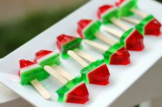 Watermelon Jello Shots | 100 Things You Can Eat On A Stick