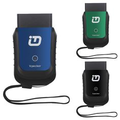 Tdintel Vpecker OBDII 16PIN Wifi EasyDiag ECU Programming/ABS/Engine/Transmission Diagnostic Tool Auto Diag Support Windows System (Blue)