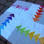 Modern Mini Quilt: basting and quilting