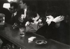 "smellslikedino: "" tamburina: "" Paul Almásy, Couple dans un bar Parisien, 1960 "" he's already lost. she's got that deviously bored look on her face, but he's too absorbed to notice. run if you still can. """