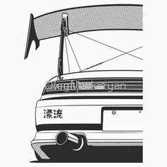 'Silvia Zenki Kouki' T-Shirt by OlegMarkaryan Carros Bmw, Cool Car Drawings, Jdm Stickers, Jdm Wheels, Japanese Domestic Market, Day Van, Nissan 240sx, Car Illustration, Japan Cars