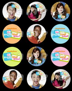 FRESH BEAT BAND 2.5 ROUND STICKERS