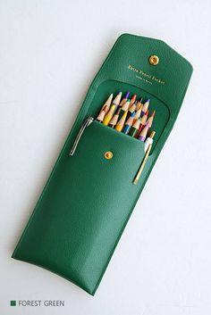 FAUX LEATHER PENCIL Case Pen Case Bullet Journal School