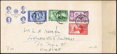 1947 Basutoland Royal Visit Set on First Day Cover SG 15 / Scott 15/7 Other First Day Covers HERE First Day Covers, Commonwealth, Postage Stamps, Africa, Bullet Journal, Federal, Stamps