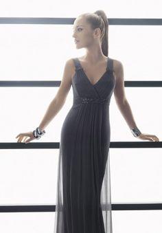 Sheath V-neck Floor-Length Satin Tulle Bridesmaid Dresses
