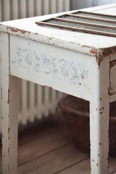 Stencil Vintage Paint Tralcio di vite vernici shabby
