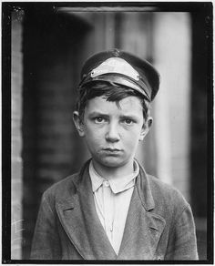 Richard Pierce, Western Union Telegraph Co. Messenger No. 2. 14 years of age. 9 months in service, works from 7 a.m. to 6 p.m. Smokes and visits houses of prostitution, May 1910 by The U.S. National Archives, via Flickr