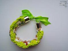 felt&ribbon bracelet