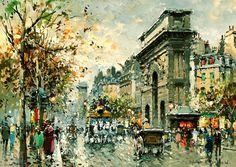 Porte-Saint-Martin (2) de Antoine Blanchard (Marcel Masson) (1910-1988, France)
