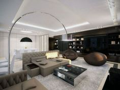 The Beautiful Look Of An Open Living Room 4