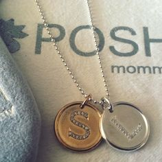 Vermeil and silver Diamond Roxy initials. Starting at $395 <3