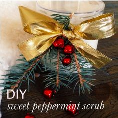 DIY 4-Ingredient Sweet Peppermint Scrub for the Holidays