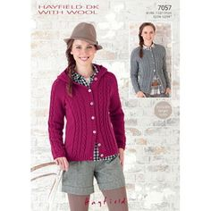 Sirdar Womens Knitting Pattern - 7057 - Jackets - Hayfield DK with Wool in Crafts, Crocheting & Knitting, Patterns | eBay