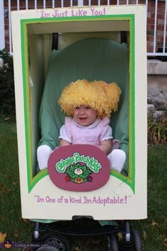 Cabbage Patch Doll - Box over a stroller. Laughing so hard.