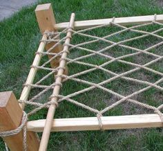 A Rope Bed Based on a c. Medieval Bed, Medieval Party, Bushcraft, Medieval Furniture, Shelter Tent, Built In Bed, Campaign Furniture, Diy Crafts Jewelry, Bed Base