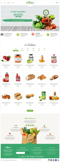 FreshMart is clean and modern design 5in1 responsive Prestashop theme for stunning #organic #food and farms eCommerce website to download click on image. #mypinterest