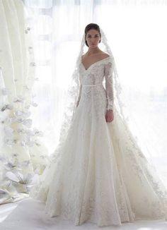 Lace wedding dresses with long sleeves 2016 » WeddingBoard