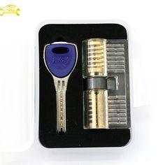 Transparent Cutaway AB Kaba Crescent Dimple Lock professional locksmith supplies