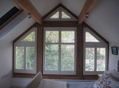 electric blinds for oak frame gable - Google Search