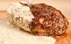 Μπριζόλα πιπεράτη με κρέμα Steak, Pork, Kale Stir Fry, Steaks, Pork Chops