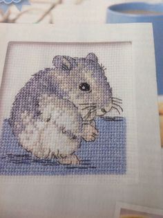"COUNTED CROSS STITCH CHART..."" Pet Of The Month...Chinese Dwarf Hamster 