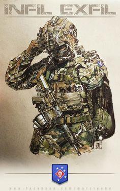 MARSOC - Level Zero Heroes, Marc  Lee on ArtStation at https://www.artstation.com/artwork/marsoc-level-zero-heroes