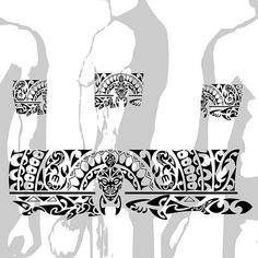 Tattoo Maori Bracelete Polinésia kirituhi, via Flickr.: